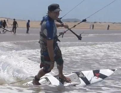 directional kiteboard stance