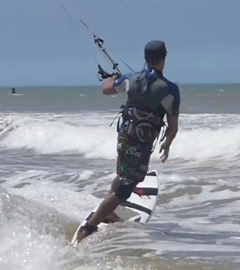 toeside riding directional kiteboard