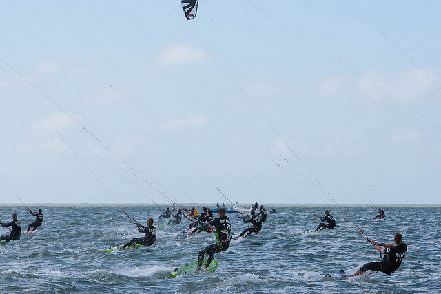 kiteboard speed racing