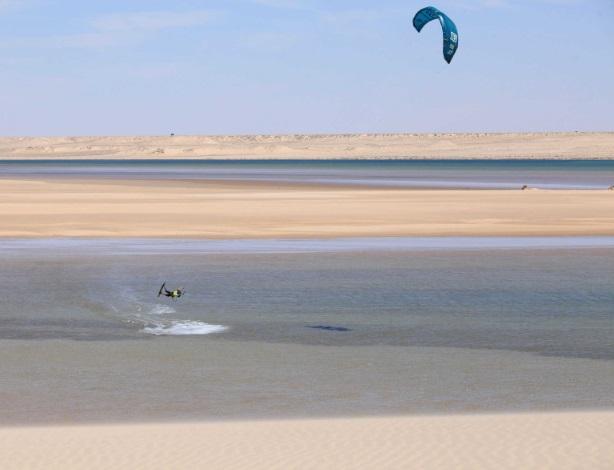 Dakhla lagoon kitesurf spot in Morocco