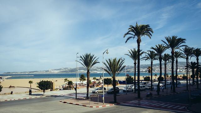Tangier city kitesurfing spot Morocco