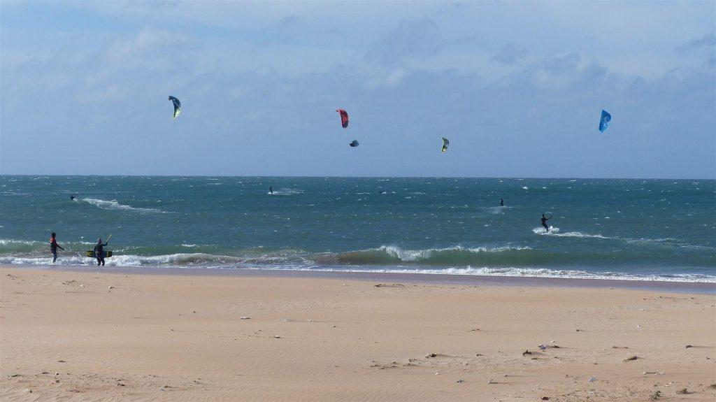 Oued Merzeg kitesurfing spot in Morocco
