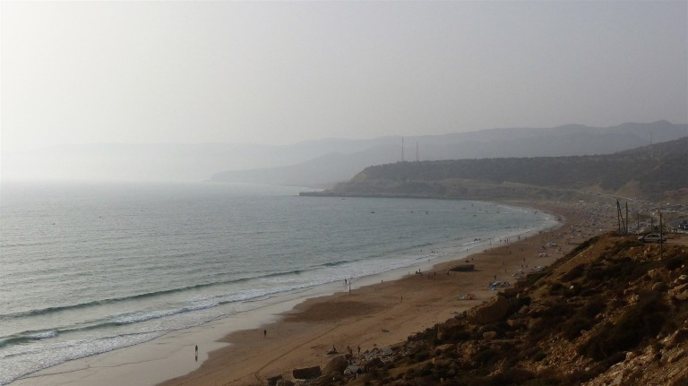 Cape tamri kitesurfing spot Morocco