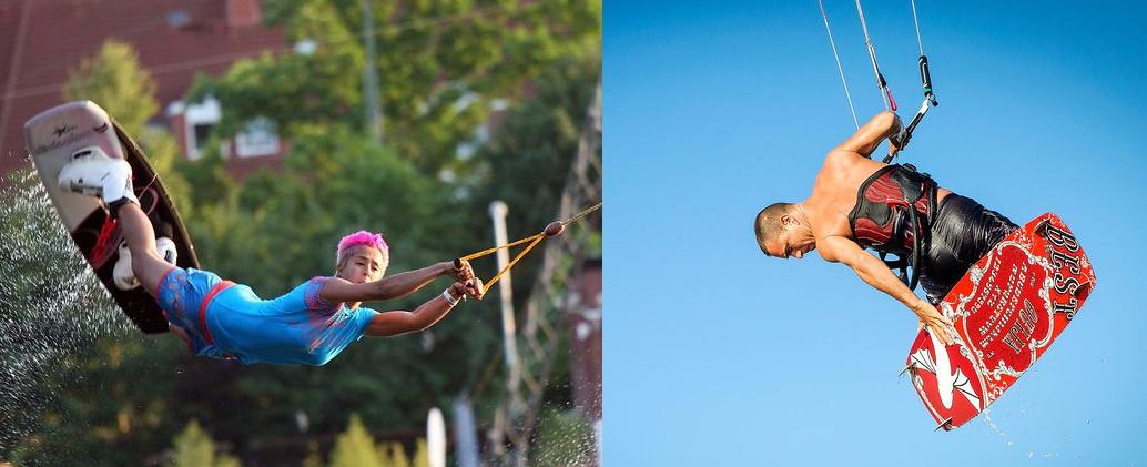 wakeboarding vs kitesurfing